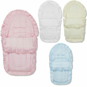 Broderie Anglaise Car Seat Footmuff / Cosy Toes Compatible with Doona