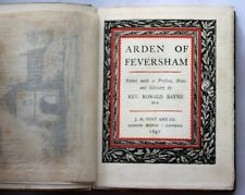 1897 ALDEN OF FEVERSHAM Faversham ELIZABETHAN PLAY Marlowe SHAKESPEARE White