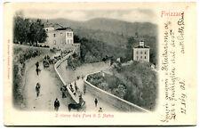 1903 Fivizzano Fiera S. Matteo GULLER Aulla Siena carri cavalli FP B/N VG ANIM.