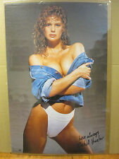 1990 Rachel Hunter hot girl man cave car garage original Vintage Poster  5504