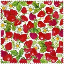 STRAWBERRY SHORTCAKE RED STRAWBERRIES FABRIC