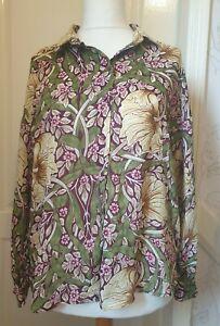 H&M x MORRIS CO Size 8 UK, EUR 34 Floral Print Button Through Collared Shirt