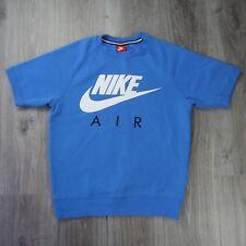 Mens Vintage Nike Air Crewneck Heavy Short Sleeve Sweater Jumper Print S Blue