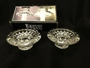 Forever Crystal Candle Holders Set of 2 Candle/Votive Holders Style #315199