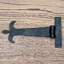 COPPIA da 8 Pollici T Cerniere Tee Cerniera Cinturino Cerniere Nero Vintage ferro battuto FDL