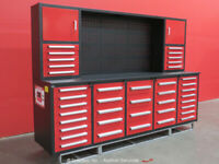 Steelman 40-Drawer 10FT Steel Work Bench Tool Cabinet Shop Box bidadoo -New