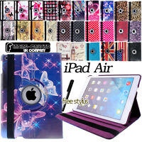 Leather 360 Degree Rotating & Folio Stand Case Cover For  iPad Air / iPad Air 2