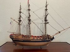 Frigate Boston Ship Model with Display Case