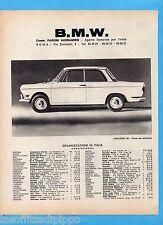 QUATTROR962-PUBBLICITA'/ADVERTISING-1962- BMW - ORGANIZZAZIONE IN ITALIA