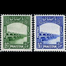 PAKISTAN 1948-1957 2.5a & 3.5a Lloyd's Bridge. SG 30 & 32. Mint Hinged. (CA44D)