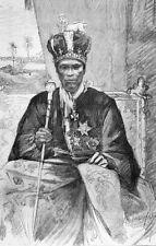 Benin Africa King Toffa of Porto Novo Crown Throne 7x5 Inch Print F