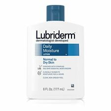 3 Pack Lubriderm Daily Moisture Lotion Normal - Dry Skin Non-Greasy Feel 6 Oz Ea