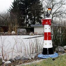 LEUCHTTURM ROTER SAND 98 cm DOPPELLICHT Garten Deko maritim Nordsee MEER Figur