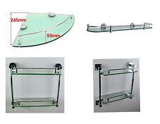 BATHROOM GLASS SHELVES SHELF UNIT GLASS CHROME