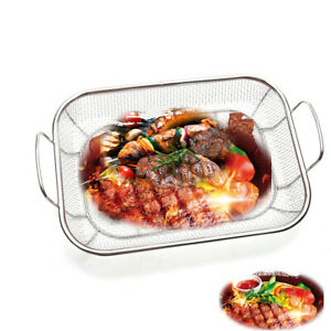 Portable BBQ Grill Basket for Outdoor Grill, Foldable Barbeque Fish Grill Basket