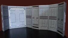 "6 Inch Death Star Hallway w Door Diorama Walls 2 pack Star Wars Black Series 6"""