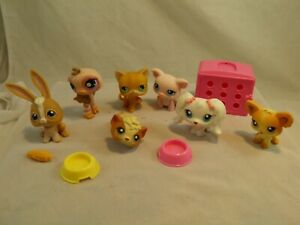 Lot of 7 Littlest Pet Shop Toys & Accessories Ostrich Dogs Bunny Hamster Cat #7