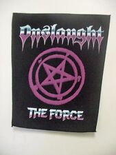 """LOT OF 2 """" ONSLAUGHT""""  THE FORCE VINTAGE BACK PATCH  .METAL BAND  1980's"""