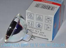 ★LAMPADA EFP 12 V / 100 W GZ6.35 x PROIETTORE 8 SUPER 8 mm (Bauer,Bolex,Silma)★