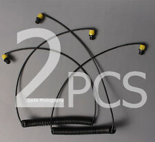 2pcs yellow color Fiber-optic Cable sync For SEA&SEA/Olympus strobe scuba diving
