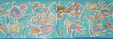 Turquoise Fun Scuba Divers Happy Fish Painted Bath Room 15 Wall Border Wallpaper