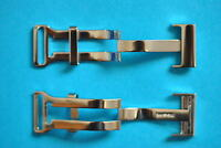 FOLDING CLASP FOR BREITLING LEATHER STRAPS 18 mm 20 mm Stainless Steel