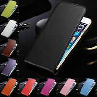 Genuine Leather Magnetic Flip Case Cover For iPhone 7 / 7 Plus