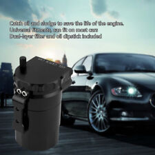 Car Suv Cylindrical Aluminum Engine Oil Catch Can Reservoir Tank Filter Baffled