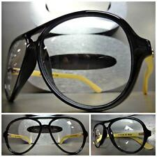 VINTAGE RETRO Style Clear Lens EYE GLASSES Real Bamboo Wood Wooden Fashion Frame
