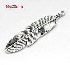 Tibetan silver charm pendant feather knot amulet for necklace bracelet 8pcs