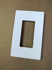 (1 pc) NEW 1-Gang Screwless Wall Plate Decora Decorator GFCI Cover WHITE Face