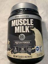 EXP 2/20 Muscle Milk Pro Series Powder Intense Vanilla 50g Protein 2Lb 32Oz Whey
