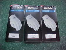 3 NEW TITLEIST MENS PERMA SOFT GOLF GLOVES  MEDIUM LARGE, LEFT HANDED MAN