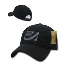 Black USA US American Flag Patch United States America Polo Baseball Hat Cap