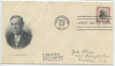 1938 FDC, WOODROW WILSON, $1.00 PRESIDENTIAL SERIES
