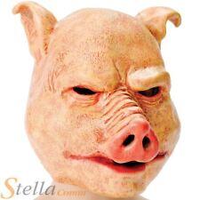 Deluxe Horror Latex Pig Mask Halloween Evil Scary Animal Fancy Dress Costume