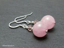 Hook Handmade Rose Quartz Fine Earrings