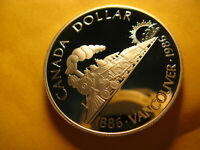 Canada Rare 1986 Silver Dollar  Vancouver Train Gem Proof Beauty IDJ318.