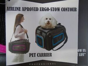 Pet Life Airline Approved  Stow Contour Pet Carrier New