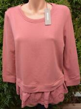 SUSSAN Rosewood Fleece TOP SIZE M. Stylish LACY Hem Trim NEW RRP$79.95 L/Sleeve