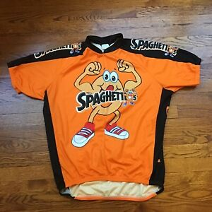 Vintage Canari Uh-Oh Spaghettios Cycling Biking Jersey Shirt Mens Sz XL