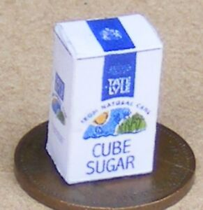 1:12 Scale Empty Sugar Cube Packet Tumdee Dolls House Kitchen Drink Accessory