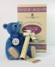 Vintage Original Blue Steiff Club Edition Teddy Bear 1908 Replica Growls
