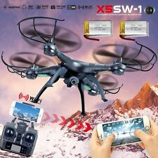 2Battery X5SW -1 Wifi FPV 2.4Ghz 4CH RC Camera Drone with Quadcopter RTF Black