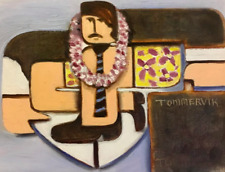 Tommervik Businesman Surfing in Hawaii Surfer Hawaiian Surf Art Aloha Painting