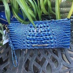 Brahmin Kayla Bluebonnet Melbourne Leather Clutch