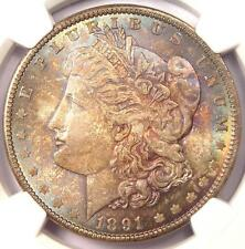 1891 Morgan Silver Dollar $1 - NGC MS64+ CAC PQ - Plus Grade - $2,000 Value