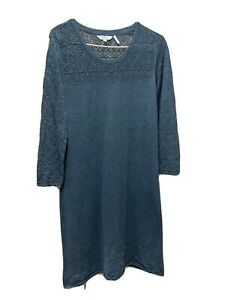 Ladies Grey Dress/Tunic Top From FAT FACE UK Size 8 VGC