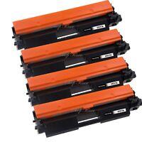 4 Pack Toner WITH CHIP for HP 17A CF217A M102a M102w M130a M130fn M130fw M130nw