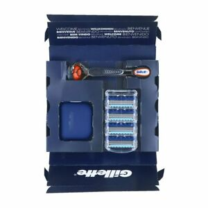 Gillette Fusion Proglide 4x Rasierklingen + 1 Rasierer Ersatzklingen Klingen Set